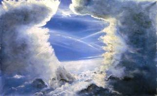 Kalli Matzora: 'paradise', 2015 Oil Painting, Sky. Artist Description: blue, sky, clouds...