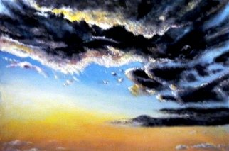 Kalli Matzora: 'sunset', 2015 Oil Painting, Sky. Artist Description: sunset, orange, sky...