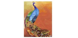Birds Oil Painting by Kumar Nayan Title:       PEACOCK CODE  P114, created in 2013