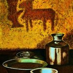 Kitchen with Mandna Art from Rajasthan, India By Kamaljeet Chugh