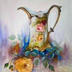 yellow rose in vase By Camelia Elena
