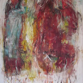 Hans-ruedi Kammermann: 'carnevalesco', 2011 Oil Painting, Gestalt. Artist Description:   carnival procession ...