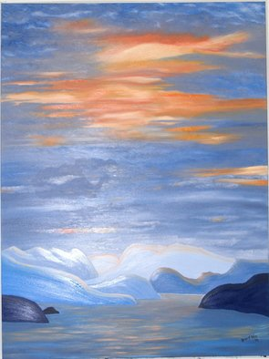 Painting by Karen A. Motley titled: Enchanted Inlet, created in 2008
