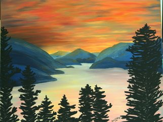 Painting by Karen A. Motley titled: The Perfect View, created in 2008