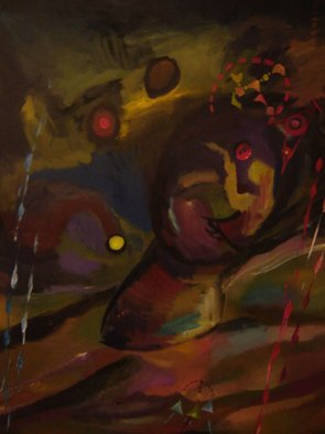Artist: Aleksandr Trachishin - Title: Head Fall - Medium: Acrylic Painting - Year: 2006