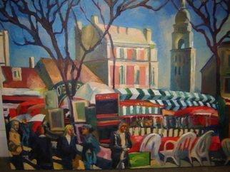 Aleksandr Trachishin Artwork Monmartre, 2006 Oil Painting, Landscape