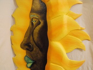 William Nelson: 'Sun Flower', 2009 Mixed Media Sculpture, Abstract Figurative.