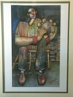 Josip Karakas: ' The Old dairist', 2009 Pastel, Theater. Artist Description:   pastel  ...