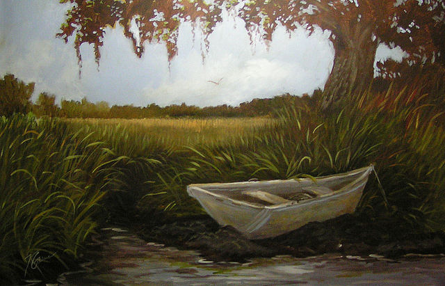 Karen Burnette Garner  'Waiting', created in 2010, Original Painting Acrylic.