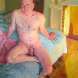 Karen Kruse: 'A real nude', 2007 Oil Painting, Nudes.