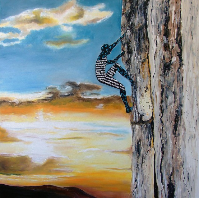 Katarina Radenkovic  'On The Way To The Top', created in 2015, Original Painting Oil.