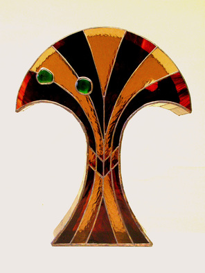 Stained Glass by Hana Kasakova titled: Dancer, 2014
