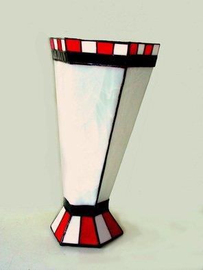 Hana Kasakova Artwork 'Drunken Monkey', 2014. Stained Glass. Geometric. Artist Description: Vase made by Tiffany technique from flat art glass. ......