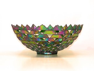 Hana Kasakova Artwork 'Fata Morgana', 2014. Stained Glass. Geometric. Artist Description: The bowl is made & # 8203; & # 8203; from iris art glass by technique wchich I called A�ura. ......