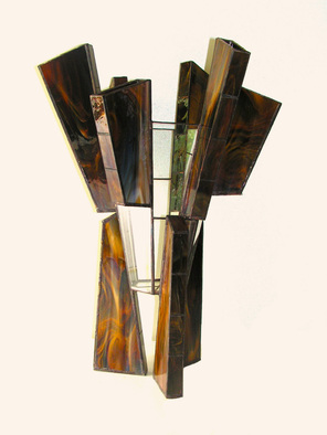 Hana Kasakova Artwork 'Lonely Shepherd', 2014. Stained Glass. Geometric. Artist Description: Hexagonal vase from transparent glass standing on three high pillars with rectangular cross- section. Decorated with six flutes with rectangular cross- section.The ......