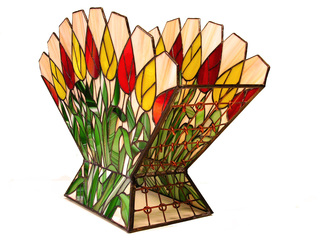 Stained Glass by Hana Kasakova titled: Tulip, 2014
