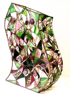Stained Glass by Hana Kasakova titled: Wave, 2014