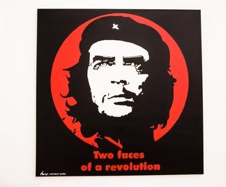 Arthur Gultyaev: 'two faces of revolution', 2016 Mixed Media, Life. Artist Description:  che  politics  stencil  streetart...