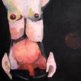 Kasia Gawron: 'FRUIT', 2013 Acrylic Painting, nudes. Artist Description:  woman, body, torso,  ...