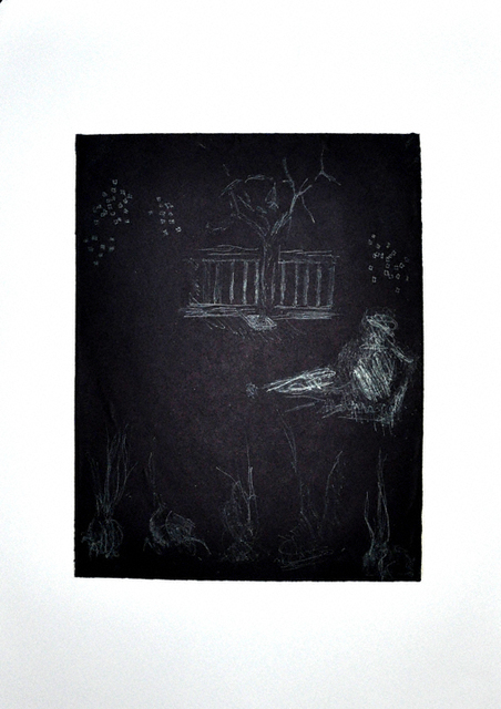 Kathryn Arnold  'It All Comes Down To This', created in 2010, Original Printmaking Monoprint.