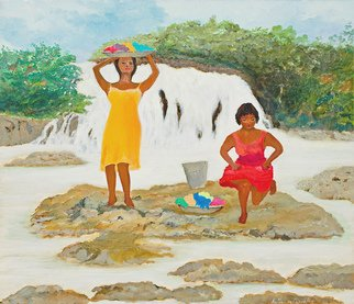 Artist: Katia De Carvalho - Title: washerwomen1 - Medium: Oil Painting - Year: 2007