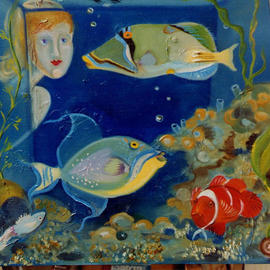 Katya Prokofieff Artwork Aquarium, 2002 Color Photograph, Fish