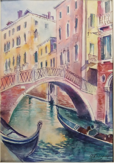 Natalia Kavolina  'Bridge In Venice No 4', created in 2018, Original Watercolor.
