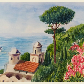 Seascape In Ravello, Natalia Kavolina