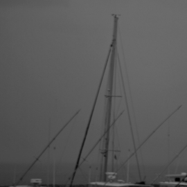 Kristine Caroppoli: 'Odens Dock I', 2011 Black and White Photograph, Boating. Artist Description: Caroppoli, digital photograph, photo, photography, image, picture, ship, boat, sail, vessel, yacht, liner, cruiser, ferry, craft, dinghy, maritime, marine, naval, seafaring, sailing, shore, nautical, black, white, sea, coast, fishing, fish, trawl, vacation, enjoyment, aquatic, vitality, energy, pleasure, relaxing, competitive, patience, the big one, catch, catch of the day, ...