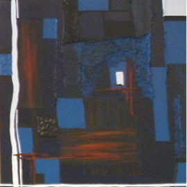 Katie Gunther Artwork Days End, 2004 Acrylic Painting, Abstract