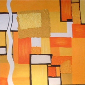 Katie Gunther Artwork Never Ending Sunset, 2004 Acrylic Painting, Abstract
