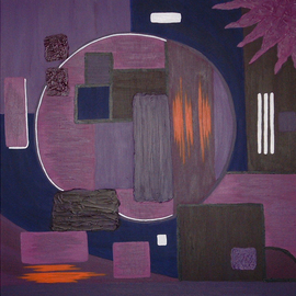Katie Gunther Artwork Purple Circle, 2004 Acrylic Painting, Abstract