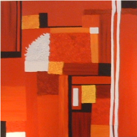 Katie Gunther Artwork Red Sunset, 2004 Acrylic Painting, Abstract