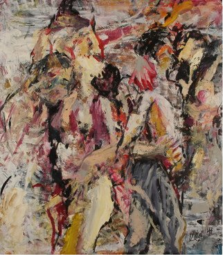 Erotic Oil Painting by Dmitriy Kedrin Title: Few figures, created in 2008