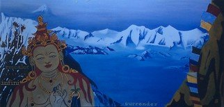Kees Van Eyck: 'sri Tibet', 1998 Acrylic Painting, Buddhism. Artist Description: from the ABC of post- war icons...