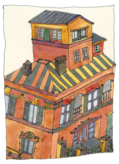Keith Wilson  'Villa At The Spanish Steps', created in 2002, Original Printmaking Giclee.