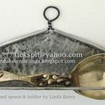 Fish Spoon and holder By L. Kelen
