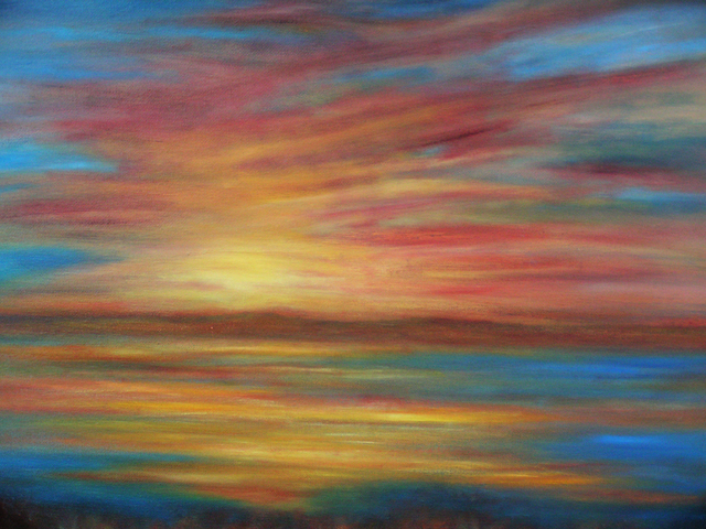 Artist Kelie Myers. 'Sunset On The Coast II' Artwork Image, Created in 2006, Original Painting Oil. #art #artist