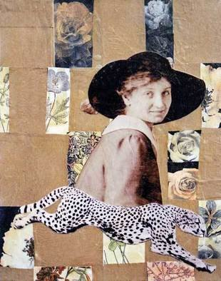 Kelly Goode Artwork For Natural Beauty, Go Back to Nature, 2007 Collage, Abstract Figurative