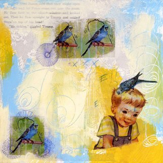 Kelly Goode Artwork Parakeet Peter, 2009 Collage, Abstract Figurative