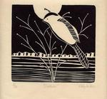 Artist: Kelly Parker, title: Chickadee, 2003, Printmaking Other