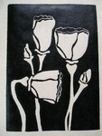 Artist: Kelly Parker, title: Poppies, 2010, Printmaking Linoleum