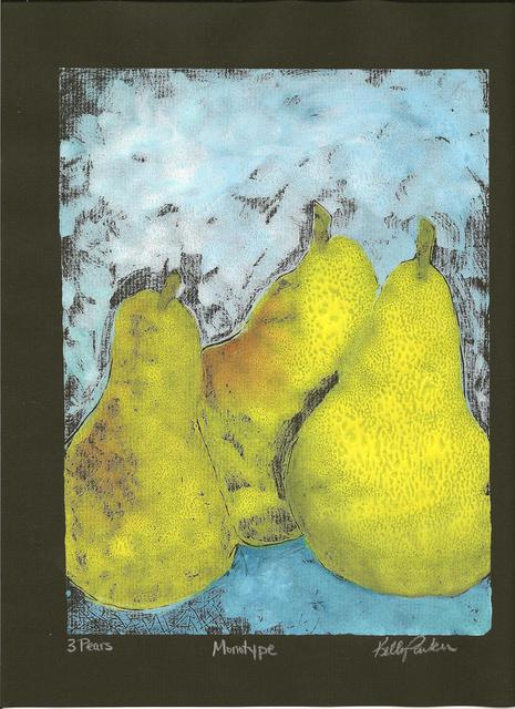 Kelly Parker  'Three Pears', created in 2010, Original Drawing Pencil.