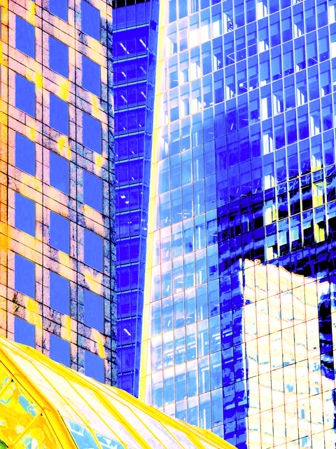 Ken Lerner  'Building Reflections 5g', created in 2018, Original Photography Color.