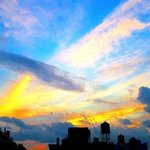 clouds and cityscape 130a By Ken Lerner