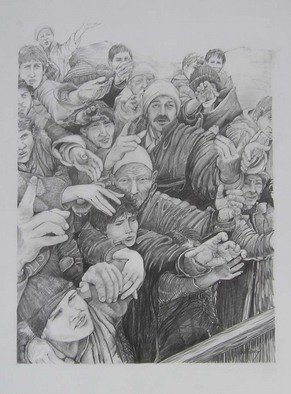 Pencil Drawing by Ken Hillberry titled: Daily Bread, created in 1999