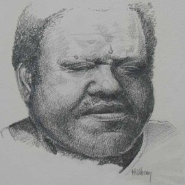 Ken Hillberry Artwork Fats, 2007 Pencil Drawing, Music