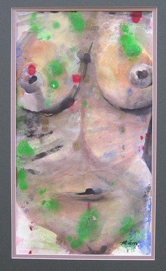 Artist: Ken Hillberry - Title: Femme Torso - Medium: Watercolor - Year: 2004