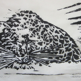 Ken Hillberry Artwork Seethingheart, 2014 Woodcut, Wildlife