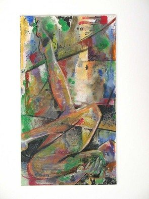 Ken Hillberry Artwork Toes Up, 2009 Mixed Media, Abstract Figurative